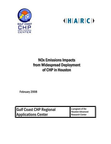 NOx Emissions Impacts from Widespread Deployment of CHP in ...
