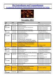 Monatsplan November 2011 als pdf - Kirchspiel Stotternheim