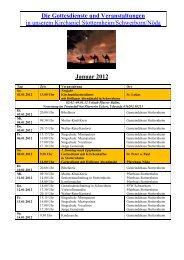 Monatsplan Januar 2012 als pdf - Kirchspiel Stotternheim