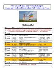 Monatsplan Oktober 2012 als pdf - Kirchspiel Stotternheim