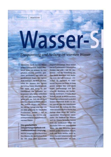 Wasser & Salz, 02/04 - Aqua Body Work München Wassershiatsu ...