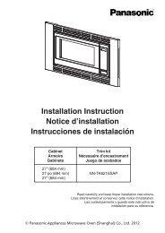 Installation Instruction Notice d'installation Instrucciones ... - Panasonic