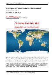 PDF 5,1 MB - DAV Sektion Wuppertal