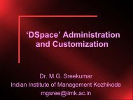 'DSpace' Administration and Customization - DSpace at Indian ...