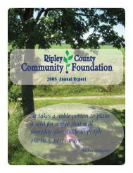 It takes a noble person to plant a - Ripley County Community ...
