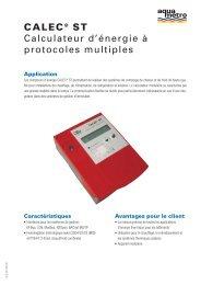 CALEC® ST Calculateur d'énergie à protocoles ... - Aquametro AG