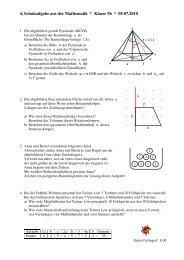 4. Schulaufgabe aus der Mathematik * Klasse 9b * 05.07.2010