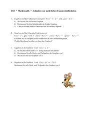 Q11 * Mathematik * Aufgaben zur natürlichen Exponentialfunktion