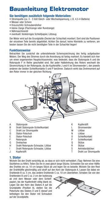 Bauanleitung Elektromotor