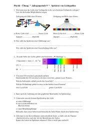 Übung Spektren von Atomen, Spektroskopbau