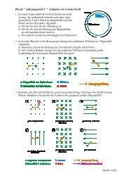 Aufgaben zur Lorentzkraft