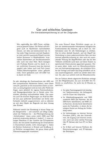 Gier und schlechtes Gewissen - Datenschmutz Wiki