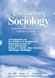 In this issue. - American Sociological Association