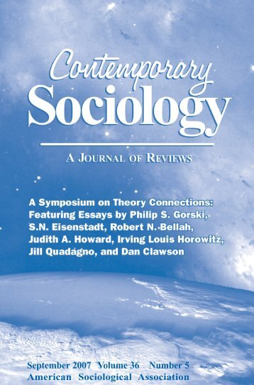 September 2007 Volume 36 Number 5 American Sociological ...