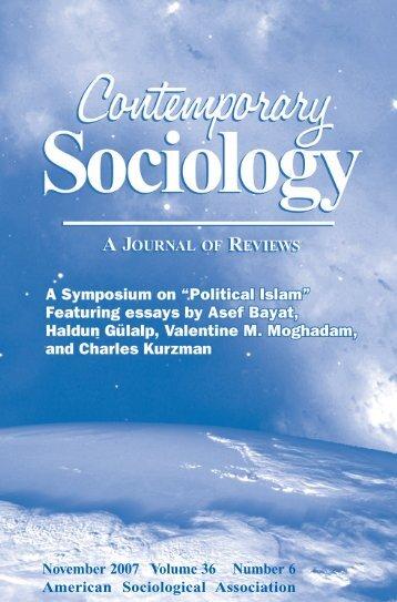 November 2007 Volume 36 Number 6 American Sociological ...