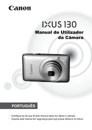 Manual do Utilizador da Câmara - Canon Europe