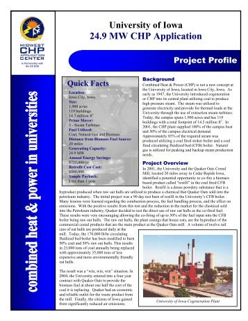 University of Iowa - Midwest Clean Energy Application Center