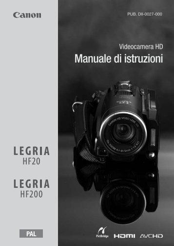 Manuale di istruzioni - Canon Europe