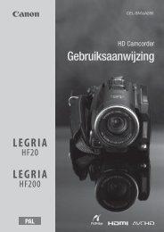 Gebruiksaanwijzing - Canon Europe