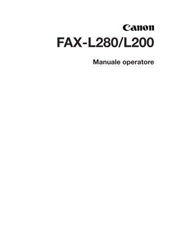 FAX-L280/L200 - Canon Europe