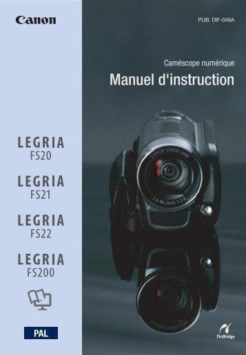 Manuel d'instruction - Canon Europe