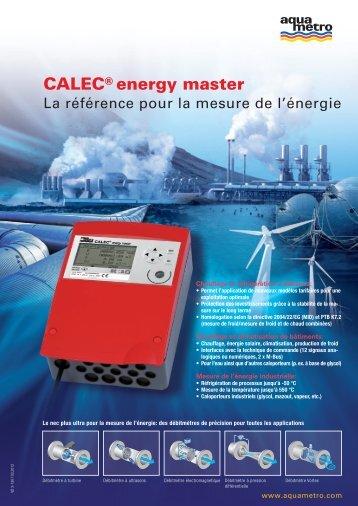 CALEC® energy master - Aquametro AG