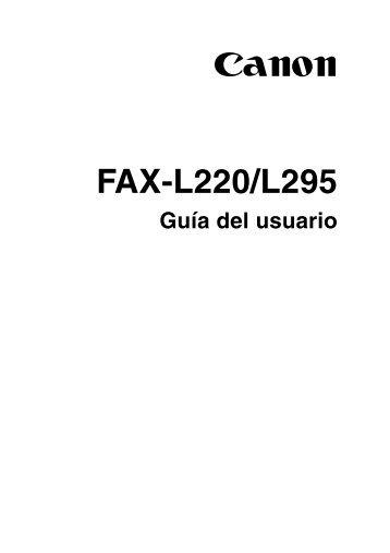 FAX-L220/L295 - Canon Europe