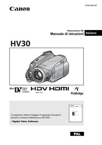 PAL Manuale di istruzioni - Canon Europe