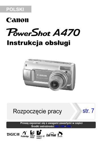 Instrukcja obsługi - Canon Europe