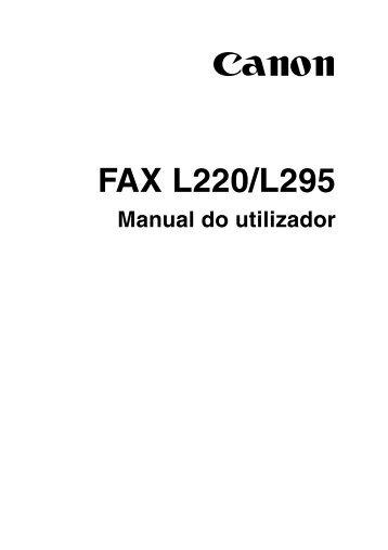 FAX L220/L295 - Canon Europe