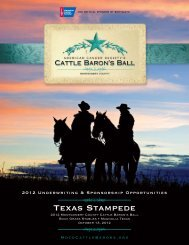 Texas Stampede - Find a Ball or Gala in my area
