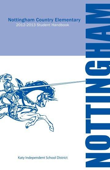 Nottingham Elementary Student Handbook 2012-13 - Campuses ...