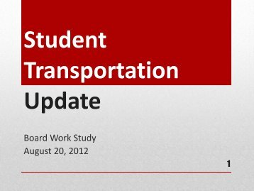 Student Transportation Update - Campuses - Katy ISD