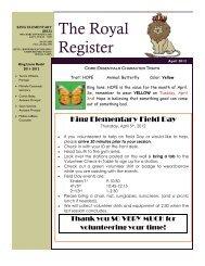 Royal Register April 2012 - Campuses