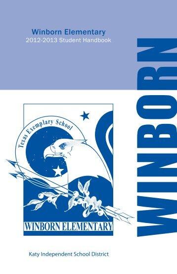 Winborn Elementary Student Handbook.pdf - Campuses - Katy ISD