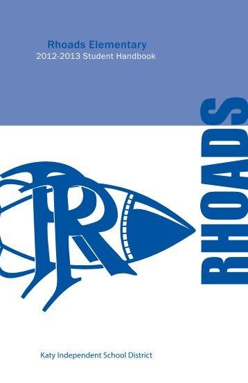 Rhoads Elementary Student Handbook.pdf - Campuses - Katy ISD