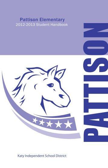 Pattison Elementary Student Handbook - Campuses - Katy ISD
