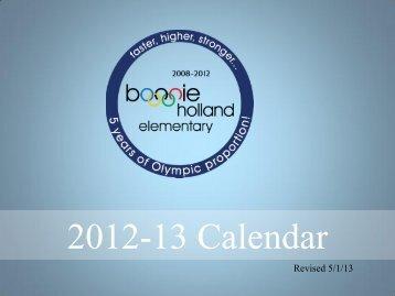 2012-13 Calendar - Campuses