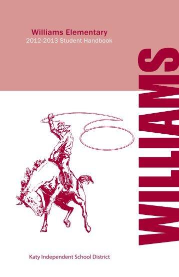 Williams Elementary Student Handbook.pdf - Campuses - Katy ISD