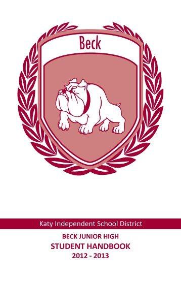 Student Handbook 2012-2013 - Campuses - Katy ISD