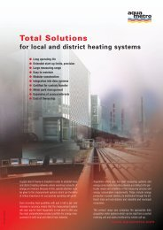 Total Solutions for local and district heating systems - Aquametro AG