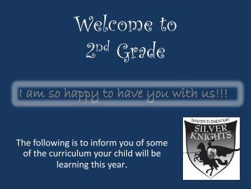 Second Grade Orientation