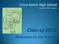 Cinco Ranch High School - Campuses - Katy ISD