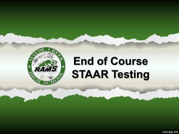 End of Course STAAR Testing