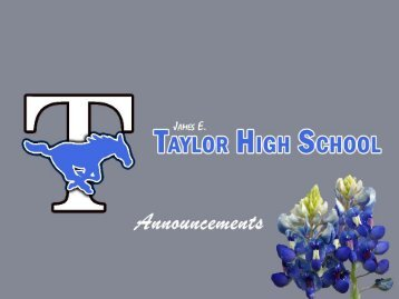 Taylor High School - Campuses - Katy ISD