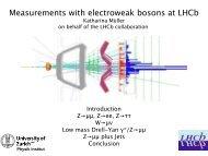 Precision electroweak measurements: LHCb - Physics Seminar - Desy
