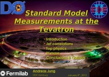 Standard Model Measurements at the Tevatron - Physics Seminar ...