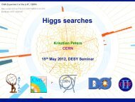 Higgs searches - Physics Seminar - Desy