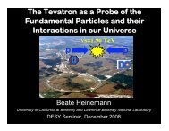 Transparencies (.pdf) - Physics Seminar - Desy