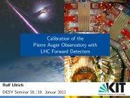 Transparencies - Physics Seminar - Desy